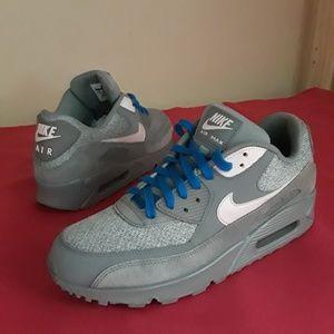 Men's Nike Air Max 90 Grey Artic Pink Sz 10